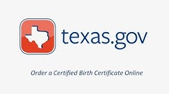 Texas.gov Birth Certificate Request Demo Video