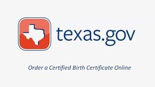 Texas.gov Birth Certificate Request Demo Video