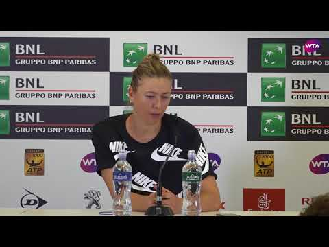 Maria Sharapova Press Conference  2018 Internazionali BNL d'Italial Semifinal