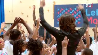 Lets Move! Active Schools Back To School Event with Michelle Obama and Shaquille O'Neal
