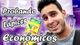 Probando lapices de colores económicos escolares | Crayola | Vlog