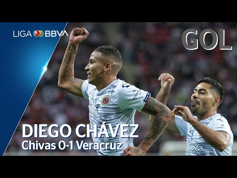 Gol de D. Chávez | Guadalajara 0 - 1 Veracruz | Liga MX - Apertura 2019 - Jornada 19 | LIGA BBVA MX