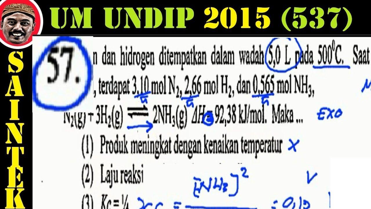 UM UNDIP 2015 Kode537, Kimia, Pembahasan No 57