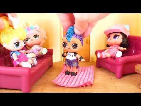 JOJO Siwa Unicorn LOL Surprise Doll Ambulance Visit Hospital + Doctor Pharaoh Punk, Peppa Pig Toy