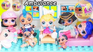JOJO Siwa Unicorn LOL Surprise Doll Ambulance Visit Hospital