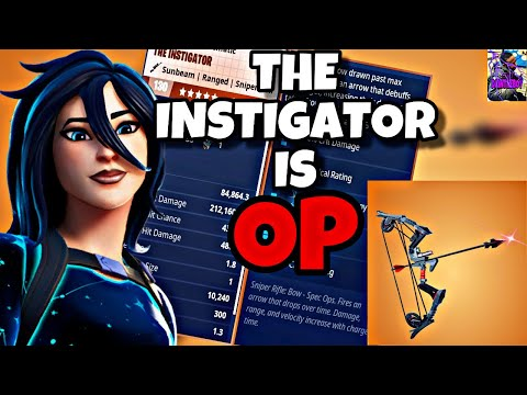 NEW!! INSTIGATOR BOW SHREDS EVERYTHING| BEST PERKS AND LOADOUT| FORTNITE SAVE THE WORLD