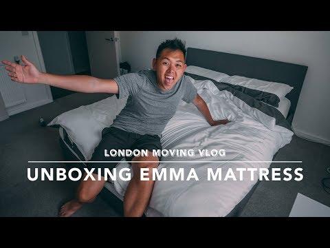 UNBOXING MY NEW EMMA MATTRESS - LONDON MOVING VLOGS #4
