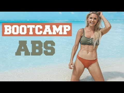 ABS BOOTCAMP WORKOUT - Intense Flat Stomach Exercises | Rebecca Louise