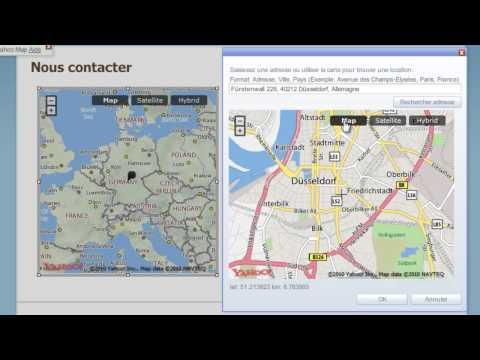 Insertion Yahoo Map