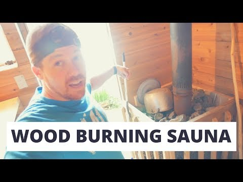 Our awesome wood burning Sauna!