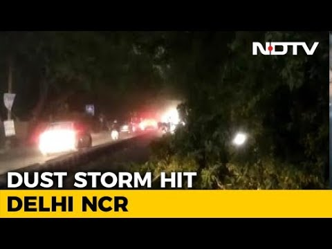 Violent Dust Storm, Rain Hit Delhi, Flights Grounded, Trees Uprooted