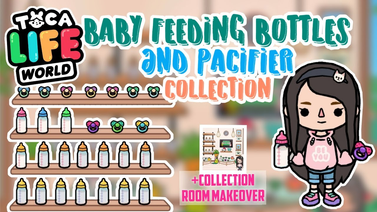 ALL BABY FEEDING BOTTLE AND PACIFIER COLLECTION + Room Makeover In TOCA LIFE WORLD - YouTube