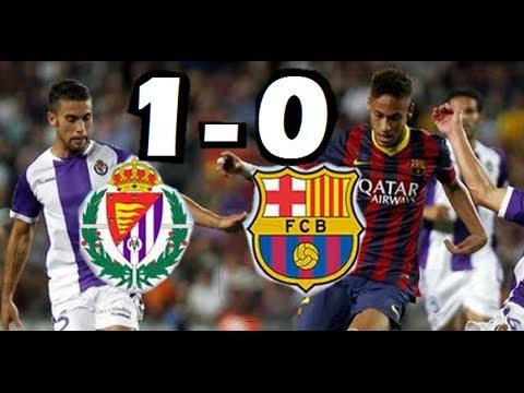 Real Valladolid vs Barcelona 1-0 2014| GOLES HD |LIGA BBVA | 08-03-2014|