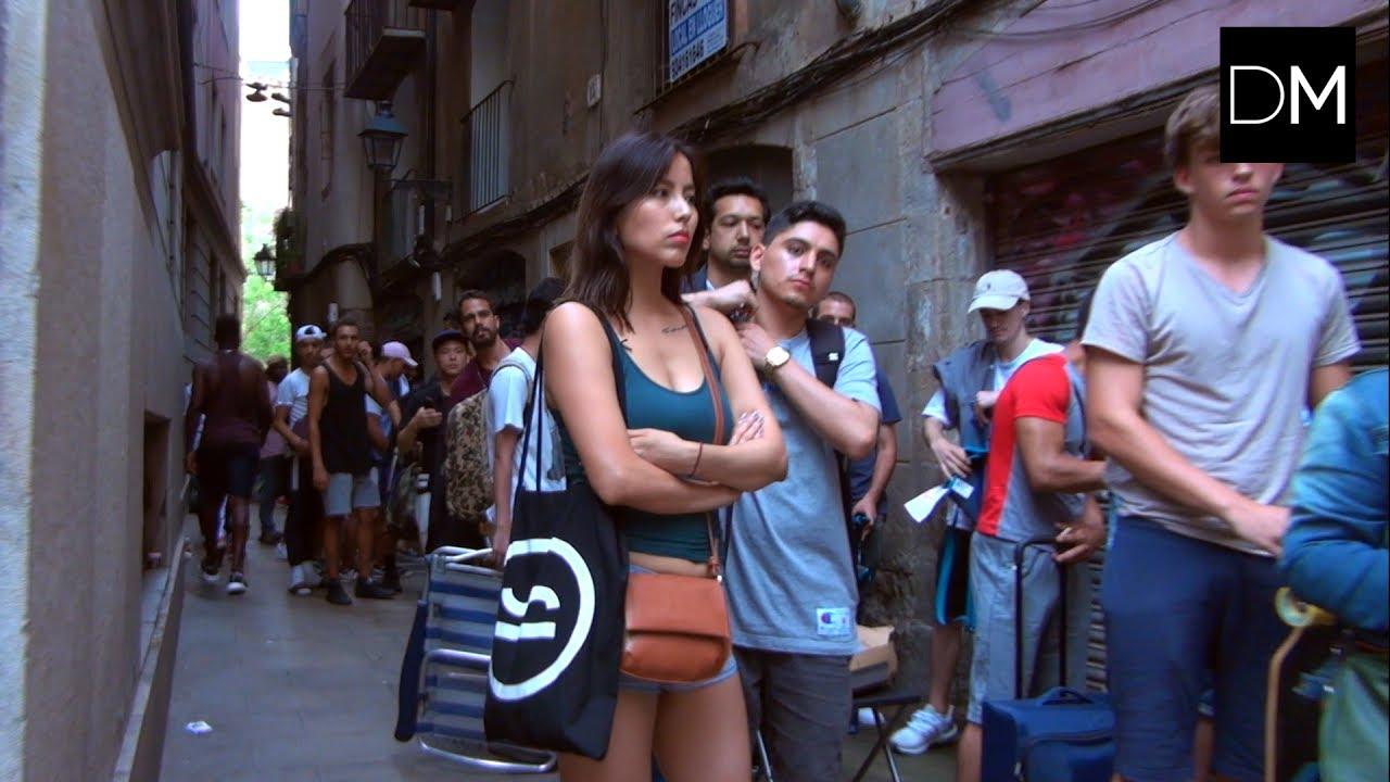 Barcelona enloquece y hace cola durante cuatro días para comprar unas zapatillas