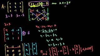 05   Eigen everything   06   Eigenvectors and eigenspaces for a 3x3 matrix