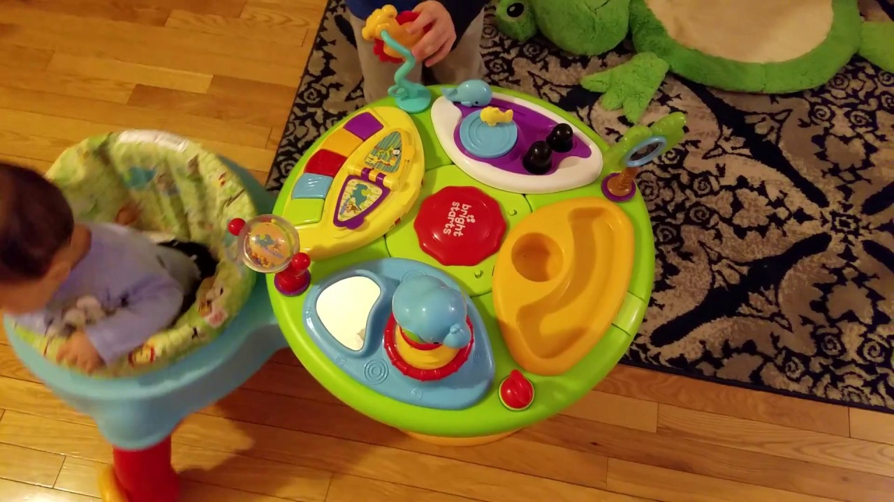 3b5765f83 Bright Starts Around We Go 3-in-1 Activity Center Zippity Zoo - YouTube