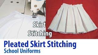 Pleated Skirt stitching for school uniform Tutorial like the American Apparel Tennis Skirt DIY