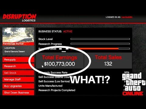 GTA 5 Making Money $100 Million Total Earnings Bunker Sales