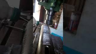 Drilling machine rack cutting in normal milling machine