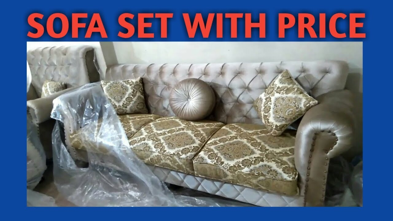 Sofa set design 11 in Karachi with price  velvet, jute and rexine fabric