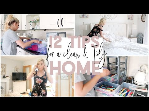 12 TIPS FOR A CLEAN AND TIDY HOME   GET YOUR HOUSE ORGANISED