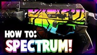 BLACK OPS 3: How To Make SPECTRUM CAMO - GHOSTS SPECTRUM CAMO SPEED ART (COD BO3 PAINT SHOP)