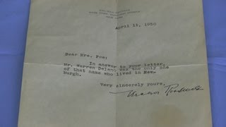History Minute #3: Letter from Eleanor Roosevelt
