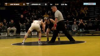 125 Pounds: Luke Resnick (Lehigh) vs. #1 Spencer Lee (Iowa) | Big Ten Wrestling