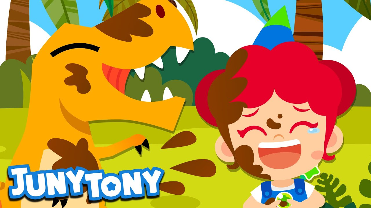 If You're Happy | Let's Dance with Dinosaurs | Nursery Rhymes | Preschool Songs for Kids | JunyTony