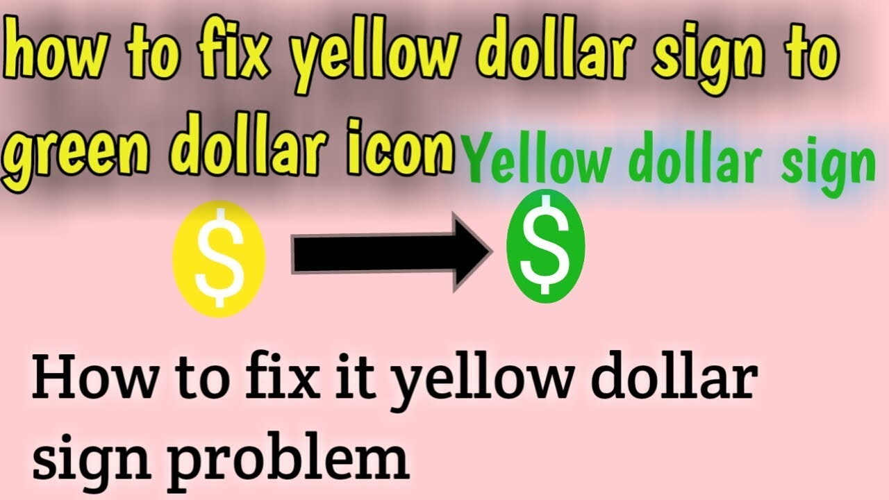 Yellow Dollar sign | how to fix yellow dollar sign to green dollar sign |  Yellow Dollar in telugu