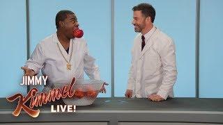 Tracy Morgan & Jimmy Kimmel Bob for Apples