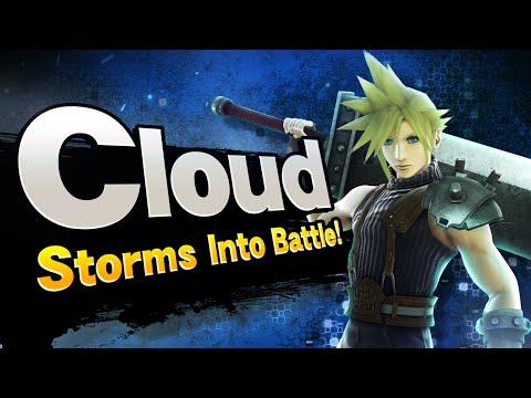 Super Smash Bros - Cloud Storms into Battle