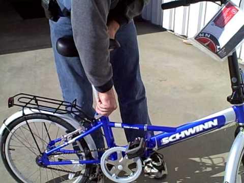 Review Of Schwinn Hide A Way Portable Folding Bike Youtube