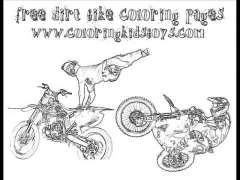 coloringbuddymike dirt bike coloring pages youtube