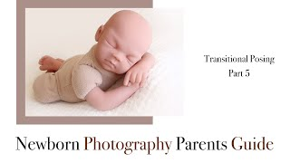 Newborn Photography Transitional Posing, Pose 5 Transition to arms under chin