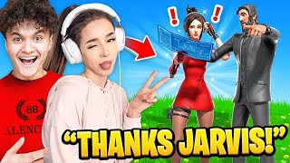 I Carried Pokimane to a WIN on Fortnite (Pokimane & FaZe Jarvis)