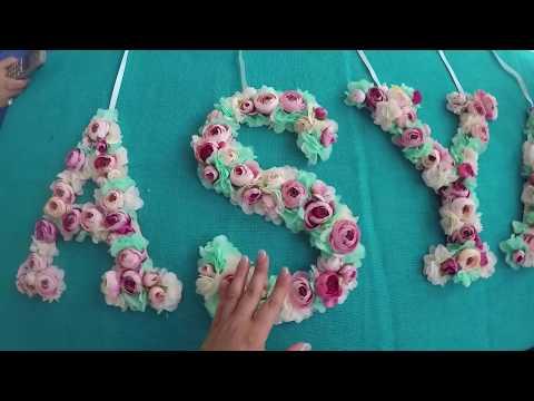 Harf Süsleme, Doğum Günü ve Organizasyonlar İçin - DIY #36
