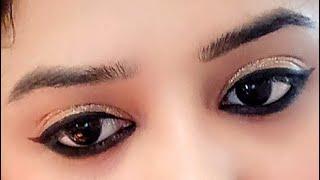 मोटा काजल और आई लाइनर कैसे लगाएं।।How to apply Thick kajal and eyeliner