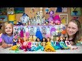 Disney Princess Dolls Dress Up Party Barbie Toys for Girls Surprise Eggs Blind Bags Kinder Playtime