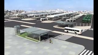 Maquete eletrônica da Linha Leste  Metrô de Fortaleza
