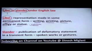defamationlaw of torts by dr deepak miglani