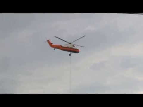 Heavy lift helicopter moves equipment to roof of ROGUE Manufacturing in Columbus, Ohio