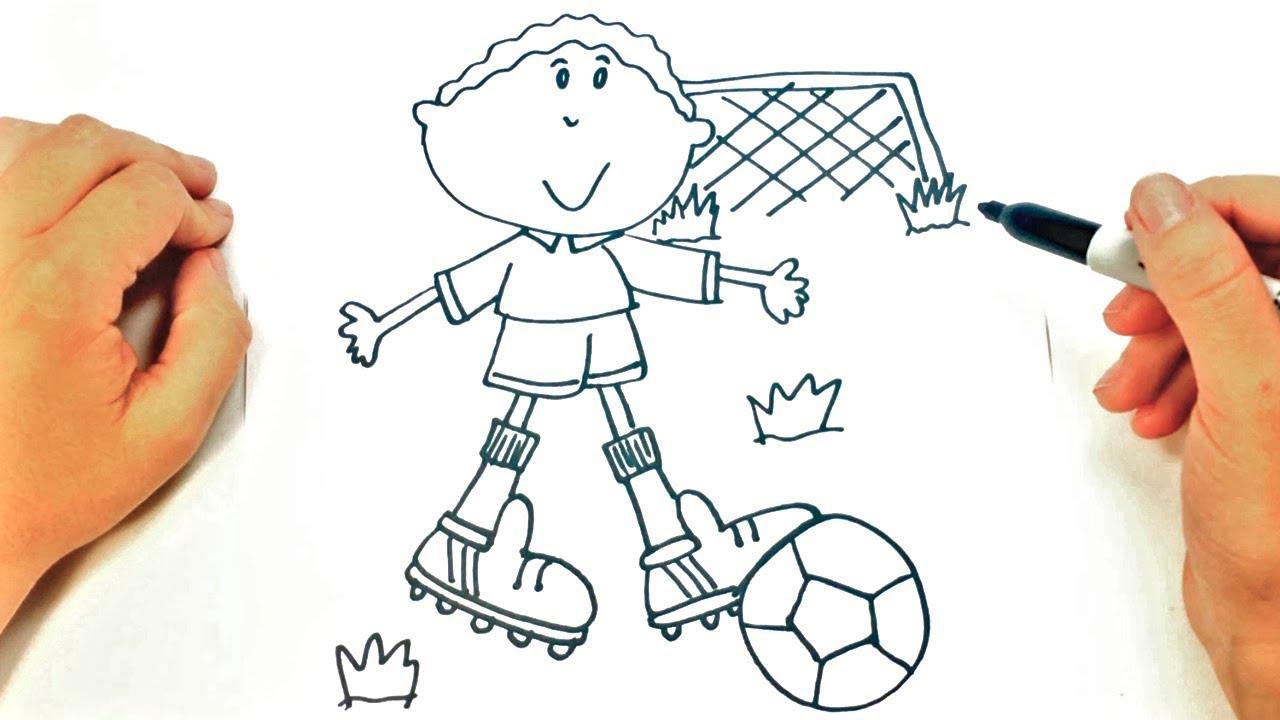Como Dibujar Un Nino Jugando A Futbol Dibujos De Ninos Youtube