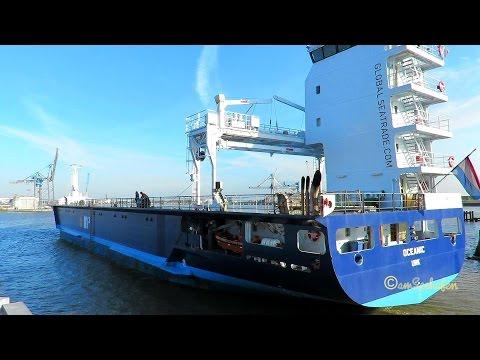 cargo seaship OCEANIC PBYH IMO 9624550 Emden sealock Frachtschiff Seeschiff