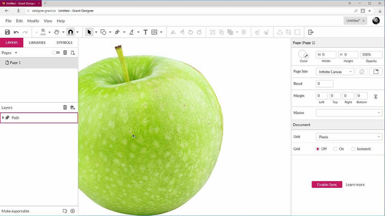 Вырезать картинку по контуру онлайн в Gravit Designer