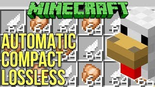 Minecraft 1.12 Chicken Cooker - Automatic Compact Lossless Tutorial