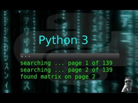 Python3 : Webseiten Durchsuchen