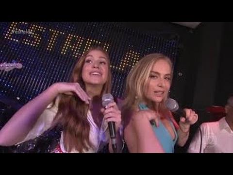 Angélica e Marina Ruy Barbosa abala o karaoke com o Anitta Show das PoderosasEstrelas 110