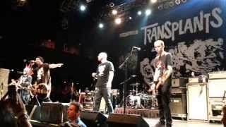 Transplants - Tall Cans in the Air @Boston 16/6/13