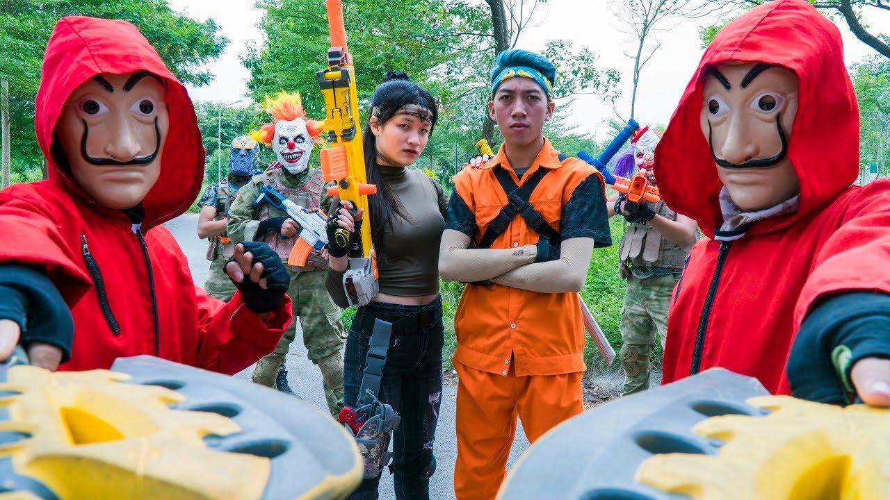 MASK Nerf War : Battle Nerf Guns Warriors SWAT ALPHA Fight King's Man Mask NINJA Special